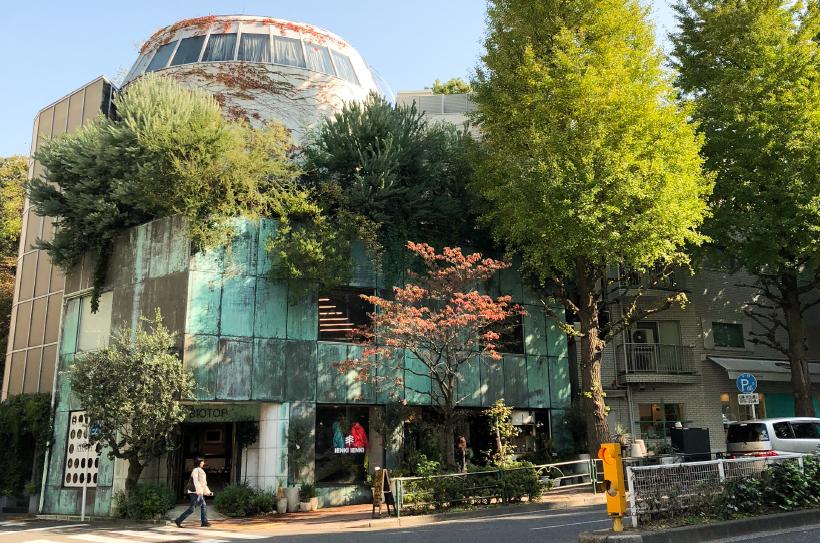2010年3月にオープンしたライフスタイルからファッション、ボタニカル、フードまでを提案する複合型ショップ。東京・白金という土地でも自然を体感できるような空間にするため、一年中変化のある植物をいれている